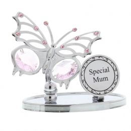 Mothers Day Gift Ideas Presents Gifts for Mum 'Special Mum' Swarvoski Butterfly